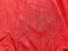 Vintage 1950's Rayon Taffeta Moire Scarlet Red Dress Making Fabric by Metre