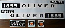 1855 OLIVER WHITE Pedal Tractor DECAL SET Ertl Toy FREE Ship Computer Cut