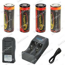 TrustFire TR-006 Charger + 4x 26650 5000mAh Rechargeable Protected Battery B0465