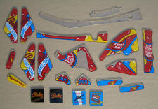 New! Bally Wizard Pinball Machine Plastic Set M-1330-114 Free Shipping!