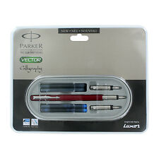 Parker Vector Standard Red CT Calligraphy Fountain Pen