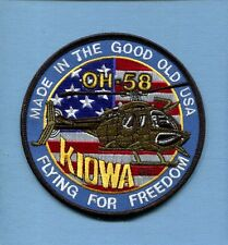 BELL OH-58 KIOWA HELICOPTER US ARMY Aviation Unit Company Squadron Jacket Patch