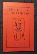 1964 THE HELL OF LONELINESS by Henry Von Rhau FN 6.0 Guild Press