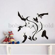Wall Sticker Girl Hair Pattern For Beauty Shop Hair Salon Decor Vinyl Decal