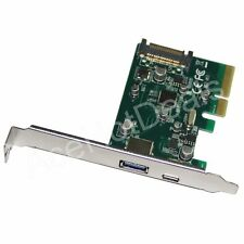 PCI-E Express 4x USB 3.1 10Gbps Type C USB-C & Type A Adapter Card