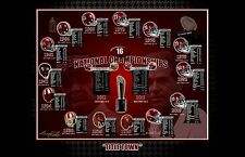 16 ALABAMA CRIMSON TIDE FOOTBALL NATIONAL CHAMPIONSHIPS S/N PRINT