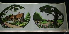 Vintage Hand-Painted Needlepoint Canvas by Monarch NEW Tree Tudor House & Garden