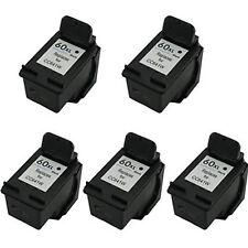 5x HP 60XL 60 XL Black CC641W 33% More Reman Ink Cartrtridge Deskjet D2500