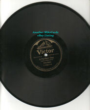 """ELSIE BAKER """"A Perfect Day/Over The Stars There is Rest"""" VICTOR 78RPM Record"""