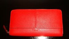 NWT COACH Park Vermillion Red Leather Double Accordion Wallet 51764