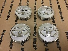 NEW TOYOTA SET OF 4 CENTER WHEEL WHEELS RIM RIMS HUB CAP CAPS  CHROME 58MM