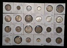 24 OLD WORLD SILVER COIN LOT FORIEGN COLLECTION GERMANY MEXICO UK EL SALVADOR