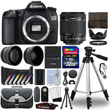 Canon 70D Digital SLR Camera + 18-55mm IS STM 3 Lens Kit + 32GB Best Value Kit