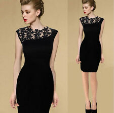 Womens Sexy Lace Stretch Clubwear Cocktail Evening Party Bodycon Pencil Dresses