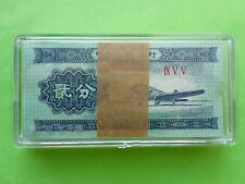 China 1953 2 Fen (=2 cent) Banknotes 100pcs (UNC), Free PPE Box