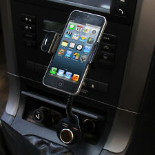 Dual USB Car Cigarette Lighter Charger Mount Holder For iPhone 5S 5C 5 6 4S GPS