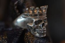 Theo Fennell Skull Ring Sterling Silver, Stamped, King Style, London NWOT sz 6.5
