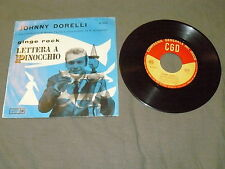 "JOHNNY DORELLI ""GINGE ROCK/LETTERA A PINOCCHIO"" 7"" CGD It 1959"