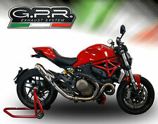 POT D'ECHAPPEMENT SILENCIEUX GPR POWERCONE INOX DUCATI MONSTER 821 2015/16