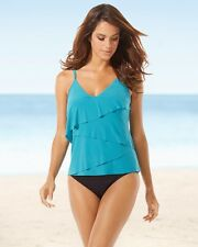 NEW Magicsuit by MIRACLESUIT SWIMSUIT 12 42 TANKINI Chloe Jade Green Black 2 PC