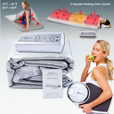 3Zones Infrared Radiant Infrared Sauna Heat Body Blanket Fat Burning FIR Machine