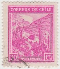 (CH283) 1938 Chile 30c pink mineral spas (C)