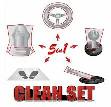 75pc Car Clean Set - Set of 5 interior car protection kit x 25 - great value