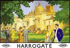 Art Print Harrogate LNER  Railway Poster