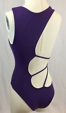 NEW Koral Swimwear Purple Pink Monokini One Piece Cut Out Reversible Swimsuit S