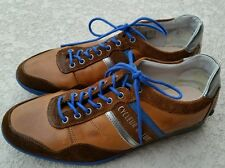 Cycleur de luxe shoes 43 (US 10) leather cycling sneakers brown blue