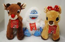 "Rudolph Red-Nosed Reindeer: ""Rudolph, Clarice, Bumble"" Plush Animals NEW DanDee"