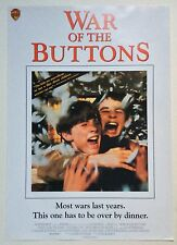 WAR OF THE BUTTONS / ORIGINAL VINTAGE VIDEO FILM POSTER / 3