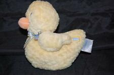 "Carter's Yellow Duckie Chenille 5"" Plush Baby Rattle Soft  Stuffed Blue Bow Toy"