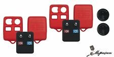 NEW RED FORD KEYLESS ENTRY REMOTE KEY FOB DIY CASE REPAIR KIT W/ BATERY PAIR