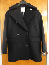 Surface to Air Cocoon Oversized Navy Blue Wool Cashmere Pea Coat 38 6 8 APC