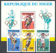 Olympiade 1988, Olympic Games - Niger - 1015-1017, Bl.50 ** MNH