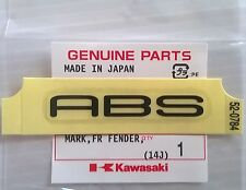 KAWASAKI 'Marca Pegatina Calcomanía de ABS 55mm X 7mm Negro 100% Genuine Part