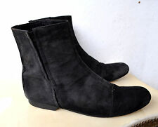 Chronicles Of Never THE EUCHARIST Black Suede Leather Boots Sz 9 Rare Sold Out!