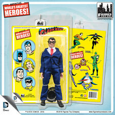 Official DC Comics Clark Kent 8 inch Action Figure on Mego-Like Retro Card