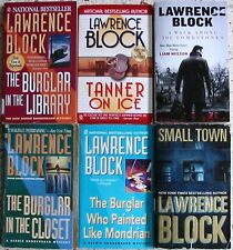 6 LAWRENCE BLOCK MYSTERY BOOKS NO DOUBLES FREE SHIPPING