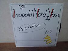 """LP 12"""" MAXI - LEOPOLD NORD & VOUS - C'est l'amour - EX/VG+ - Pochette glacée"""