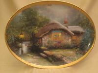 COLLECTOR'S COTTAGE collector plate THOMAS KINKADE Scenes of Serenity BRADFORD