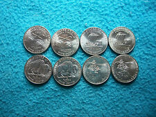 2004 - 2005 P & D WESTWARD JOURNEY JEFFERSON NICKELS UNCIRCULATED 8 COINS