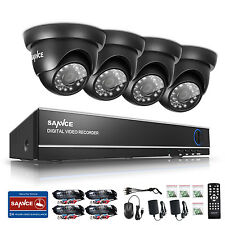 SANNCE HD 1080N 8 Channel DVR 1500TVL TVI Outdoor IR Home Security Camera System