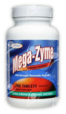Mega enzima 10x fuerza pancreáticas Súper Enzimas, x200tabs