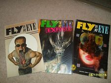 LOT OF 3 FLY IN MY EYE TRADE PAPERBACKS TPB GRAPHIC NOVELS ECLIPSE JOHN BOLTON
