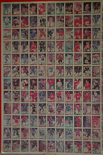 "1991-92 OPC '91 O-Pee-Chee Hockey UNCUT Sheet 132 Cards 42.5""x28.5"" EX"