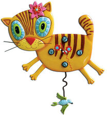 〓 Michelle ALLEN DESIGNS Desk Wall Clock Cat Design Kimi Kitty