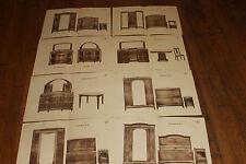 ancienne planche de meubles année 20 de marque J L 50 par 32 cm