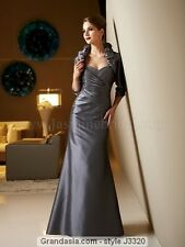 Jade Couture by Jasmine style J3320 Platinum size 6-Mother of the Bride